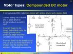 motor types c ompounded dc motor