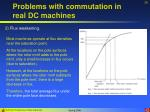 problems with commutation in real dc machines26