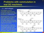 problems with commutation in real dc machines28