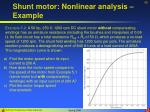 shunt motor nonlinear analysis example