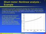 shunt motor nonlinear analysis example57