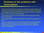 solutions to the problems with commutation31