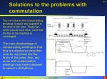 solutions to the problems with commutation34
