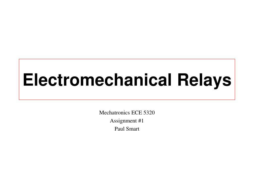 electromechanical relays l.