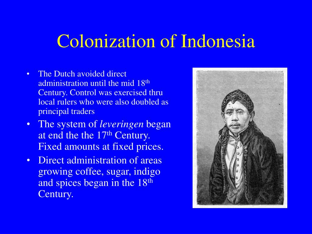 Colonization of Indonesia