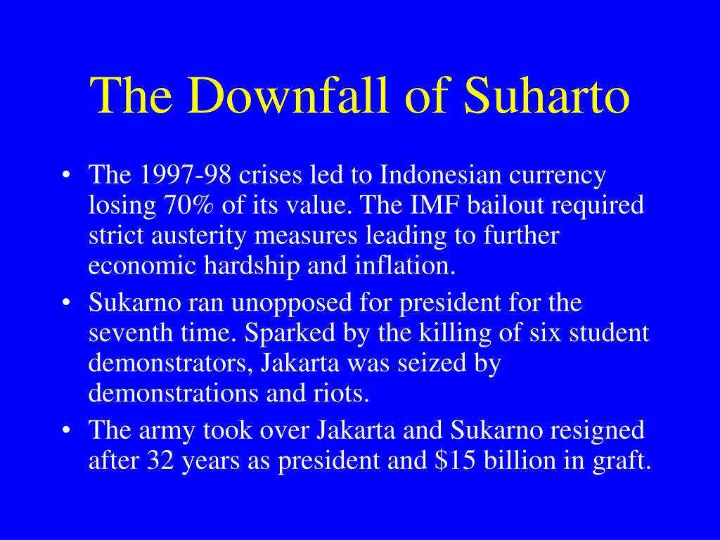 The Downfall of Suharto