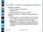 les ntic nouvelles technologies ducatives