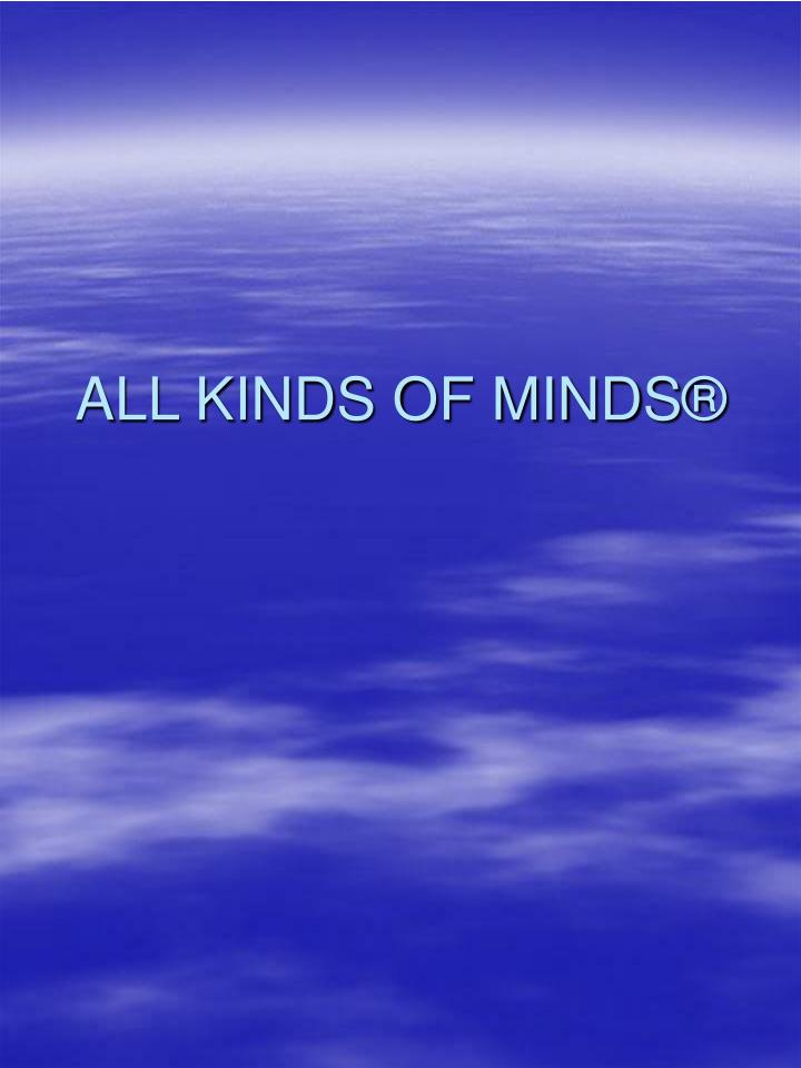 all kinds of minds n.