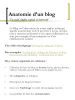 anatomie d un blog un outil simple rapide et interactif