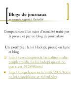 blogs de journaux un nouveau rapport l actualit