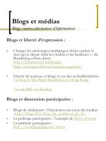 blogs et m dias blogs sources alternatives d informations