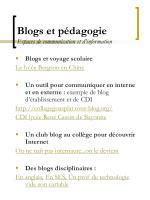 blogs et p dagogie espaces de communication et d information