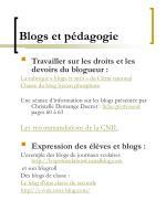 blogs et p dagogie