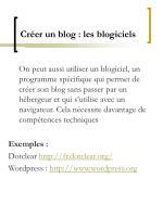 cr er un blog les blogiciels