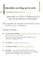 identifier un blog sur le web
