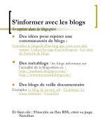 s informer avec les blogs se rep rer dans la blogosp re
