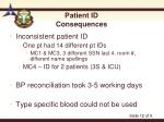 patient id consequences12