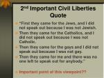 2 nd important civil liberties quote