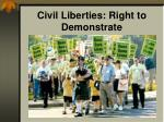 civil liberties right to demonstrate10
