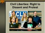 civil liberties right to dissent and protest