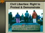 civil liberties right to protest demonstrate