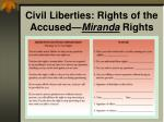 civil liberties rights of the accused miranda rights
