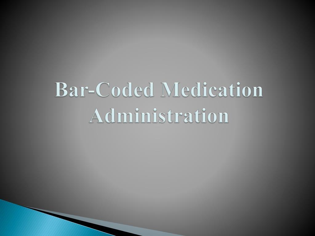 bar coded medication administration l.