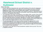 hazelwood school district v kuhlmeier