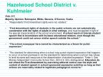 hazelwood school district v kuhlmeier23