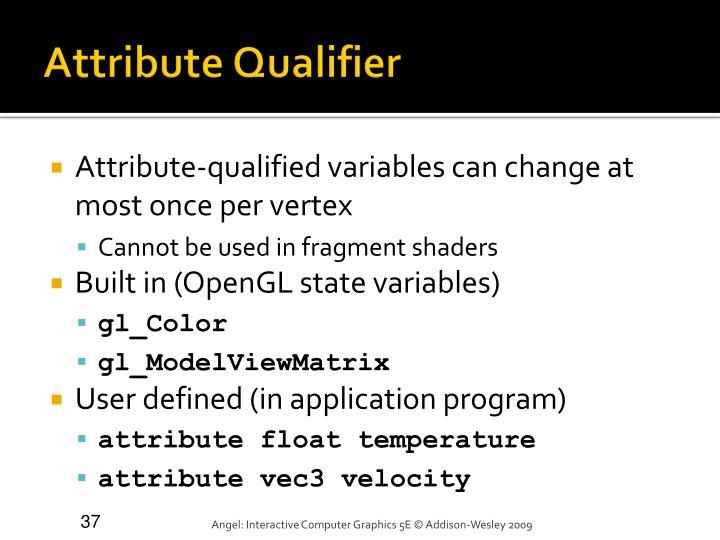 Attribute Qualifier