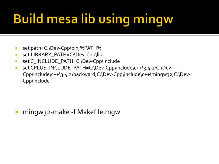 Build mesa lib using