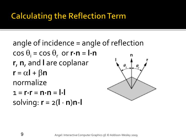 Calculating the Reflection Term