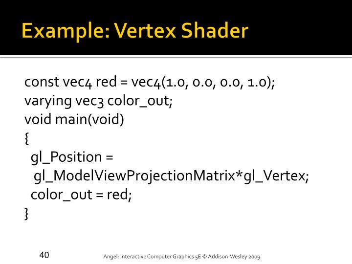 Example: Vertex Shader