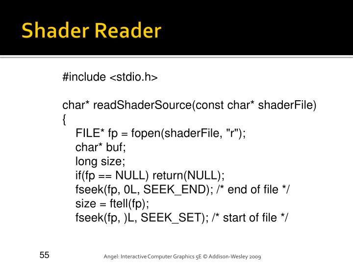 Shader Reader
