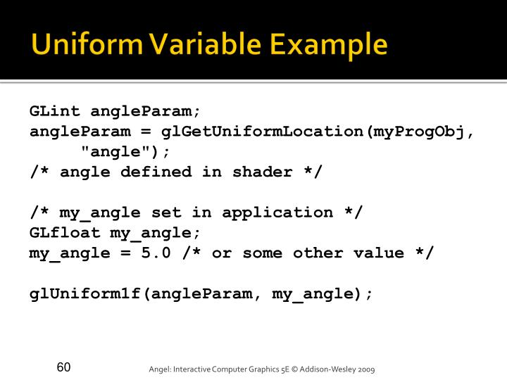 Uniform Variable Example