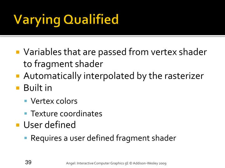 Varying Qualified