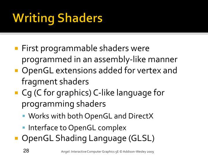 Writing Shaders