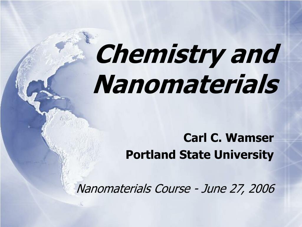 chemistry and nanomaterials l.