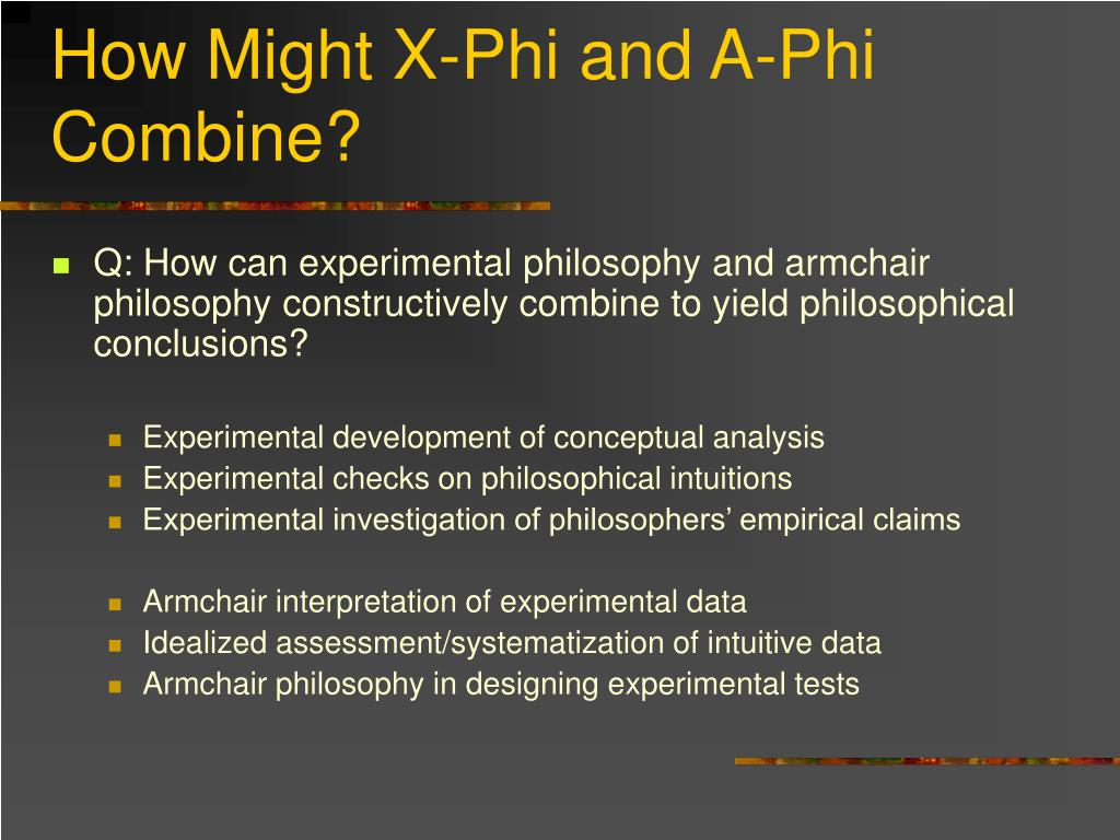 How Might X-Phi and A-Phi Combine?