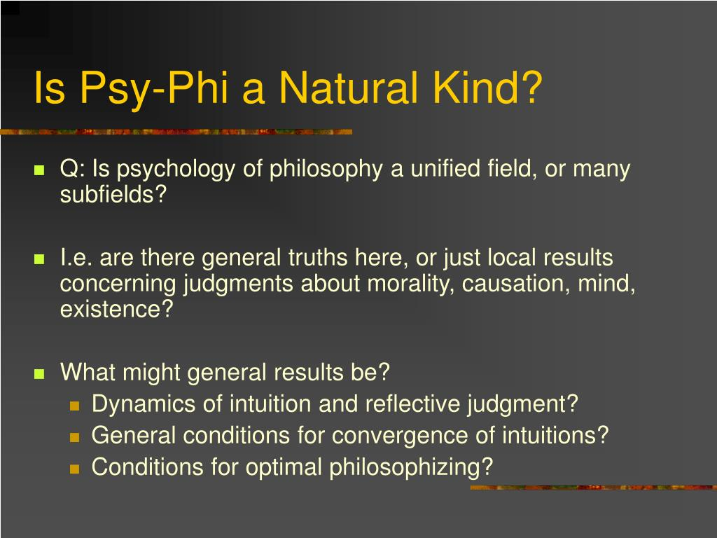 Is Psy-Phi a Natural Kind?