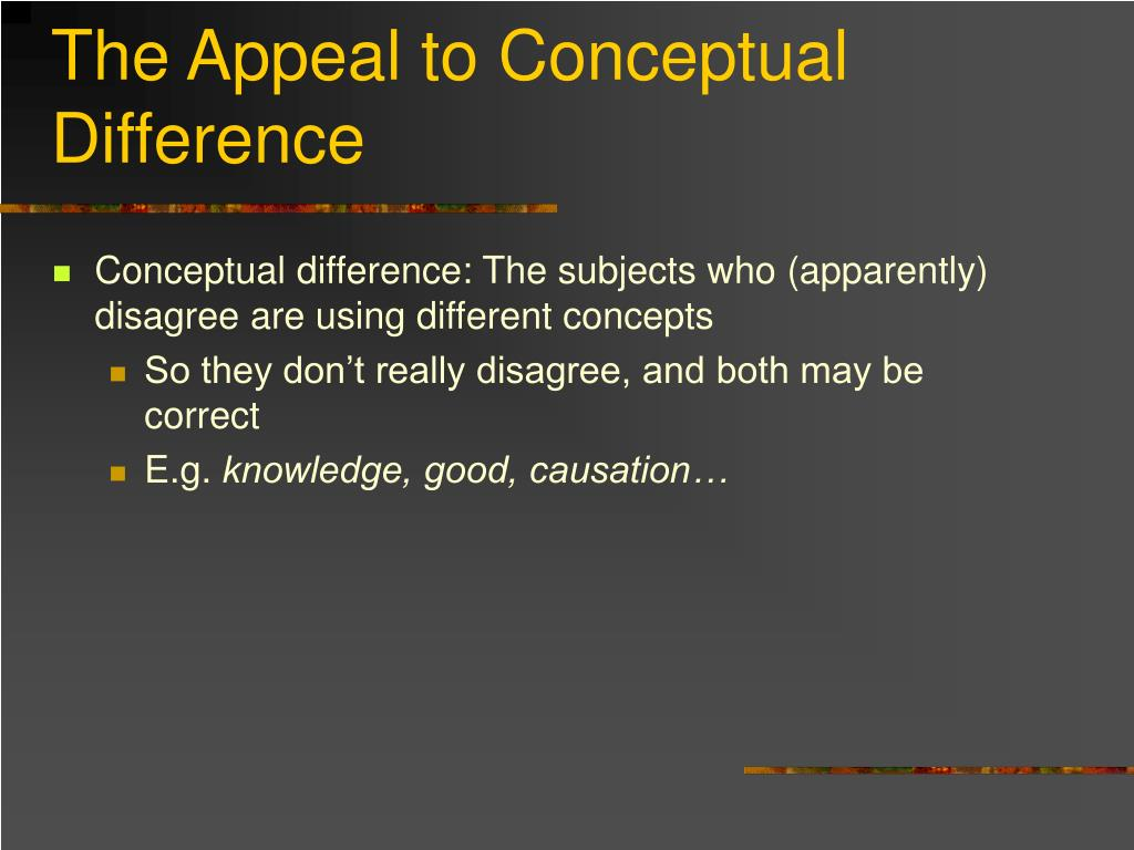 The Appeal to Conceptual Difference