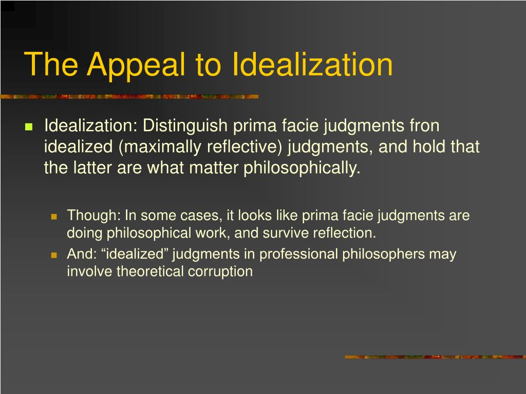 The Appeal to Idealization