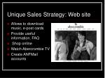 unique sales strategy web site
