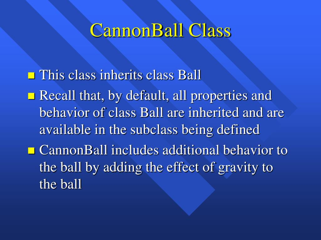 CannonBall Class