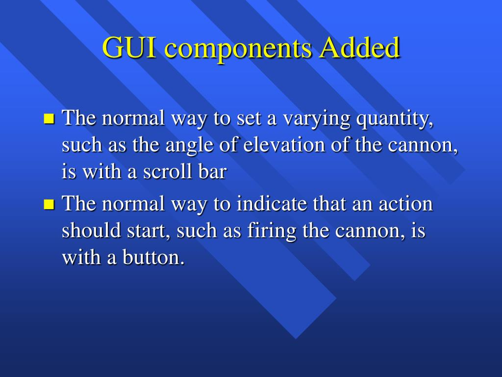 GUI components Added