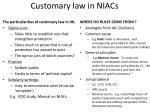 customary law in niacs