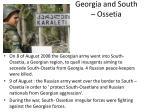 georgia and south ossetia