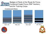badges of rank of the royal air force combined cadet force raf section and air training corps20