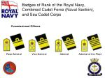 badges of rank of the royal navy combined cadet force naval section and sea cadet corps7