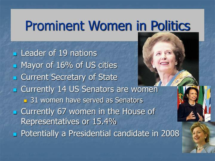 Prominent women in politics